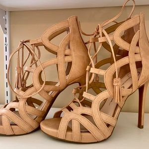 Jessica Simpson Caged Nude Sandals Heels